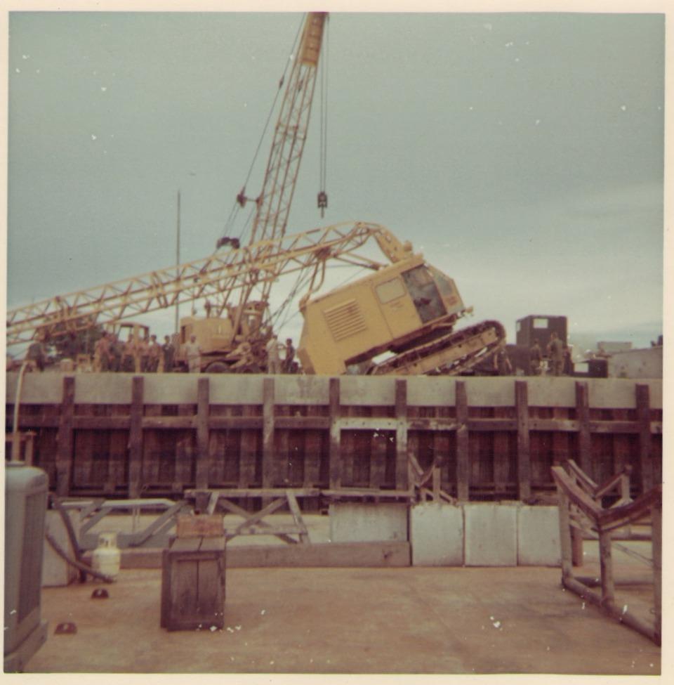 Crane Mishap at Swift Boat Base Cat Lo