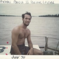 Larry Rosato - Beard Prior to Being Legal July 1970