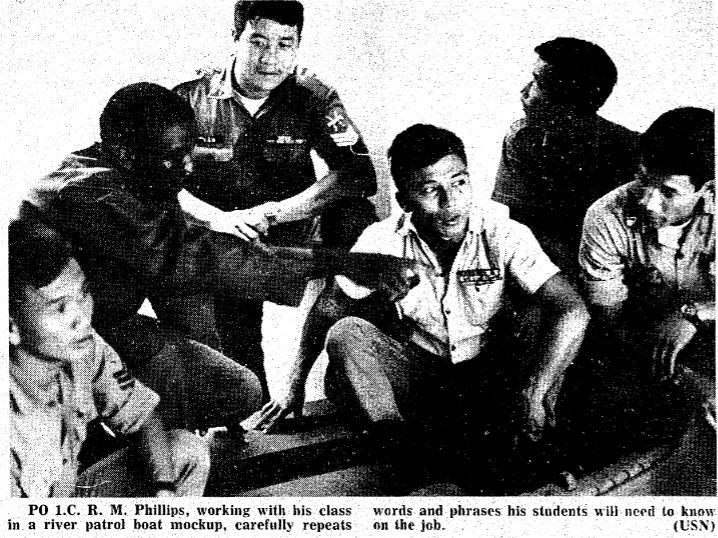 Viet Sailors Drill and Drill to Learn A B Sea Language
