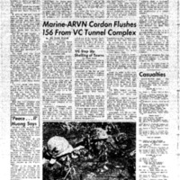 Marine-ARVN Cordon Flushes 156 from VC Tunnel Complex